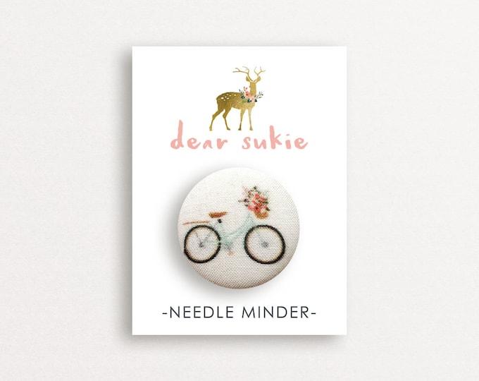 Needle Minder - Lovely Day, needle minder bike,  embroidery, cross stitch, needlework,  needle minder for cross stitch, magnet, gift, cute