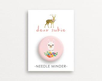 Needle Minder - Llama, cute needle minder, cute,  embroidery, cross stitch, needlework, supplies, xstitch, alpaca, magnet, gift