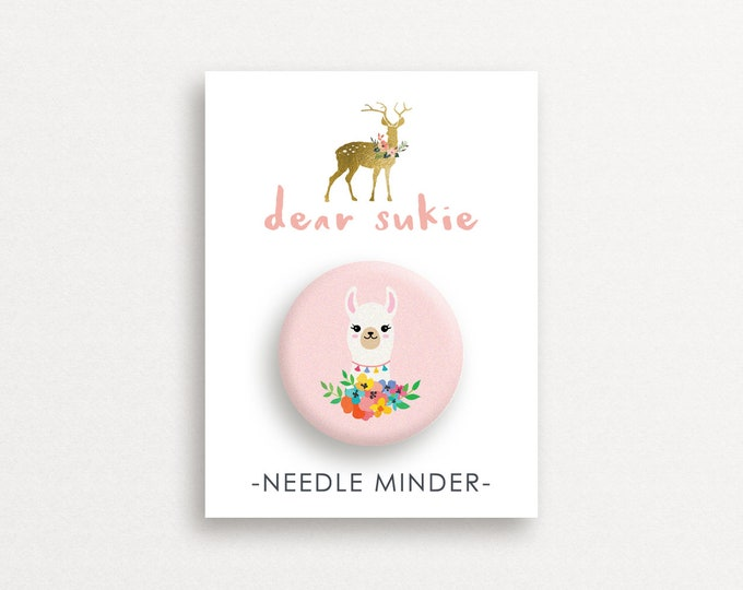 Needle Minder - Llama, cute needle minder, cute,  embroidery, cross stitch, needlework, supplies, xstitch, alpaca, magnet, gift