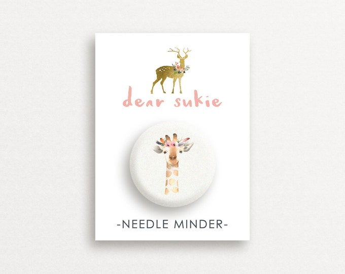 Needle Minder - Giraffe, giraffe needle minder, cute,  embroidery, cross stitch, needlework, supplies, xstitch, dear sukie, magnet, gift