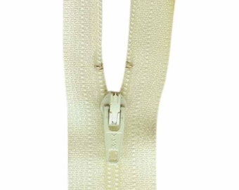 COSTUMAKERS General Purpose Closed End Zipper 23cm (9″) - Ivory, craft, sewing, beige, zip, pant, skirt, pouch, closure, closed end