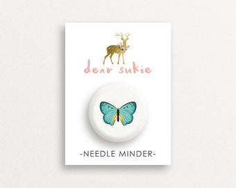 Needle Minder Butterfly1 - cute needle minder, cute,  embroidery, cross stitch, needlework, supplies, xstitch, butterflies, magnet,