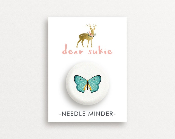 Needle Minder Butterfly1 - cute needle minder, cute,  embroidery, cross stitch, needlework, supplies, xstitch, butterflies, magnet,