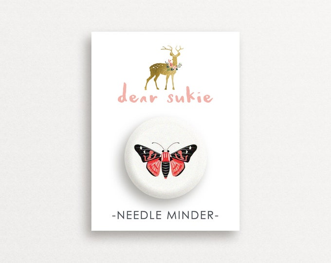 Needle Minder Butterfly2 - cute needle minder, cute,  embroidery, cross stitch, needlework, supplies, xstitch, butterflies, magnet,