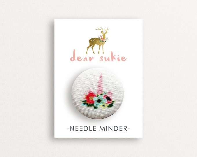 Needle Minder - Unicorn, needle minder unicorn,  embroidery, cross stitch, needlework,  needle minder for cross stitch, magnet, gift, cute