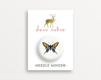 Needle Minder Butterfly3 - cute needle minder, cute,  embroidery, cross stitch, needlework, supplies, xstitch, butterflies, magnet,