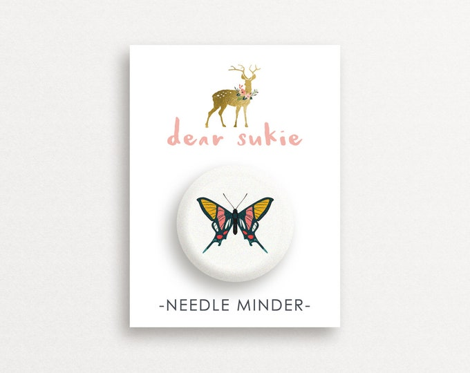 Needle Minder Butterfly3 - cute needle minder, cute,  embroidery, cross stitch, needlework, supplies, xstitch, butterflies, magnet,