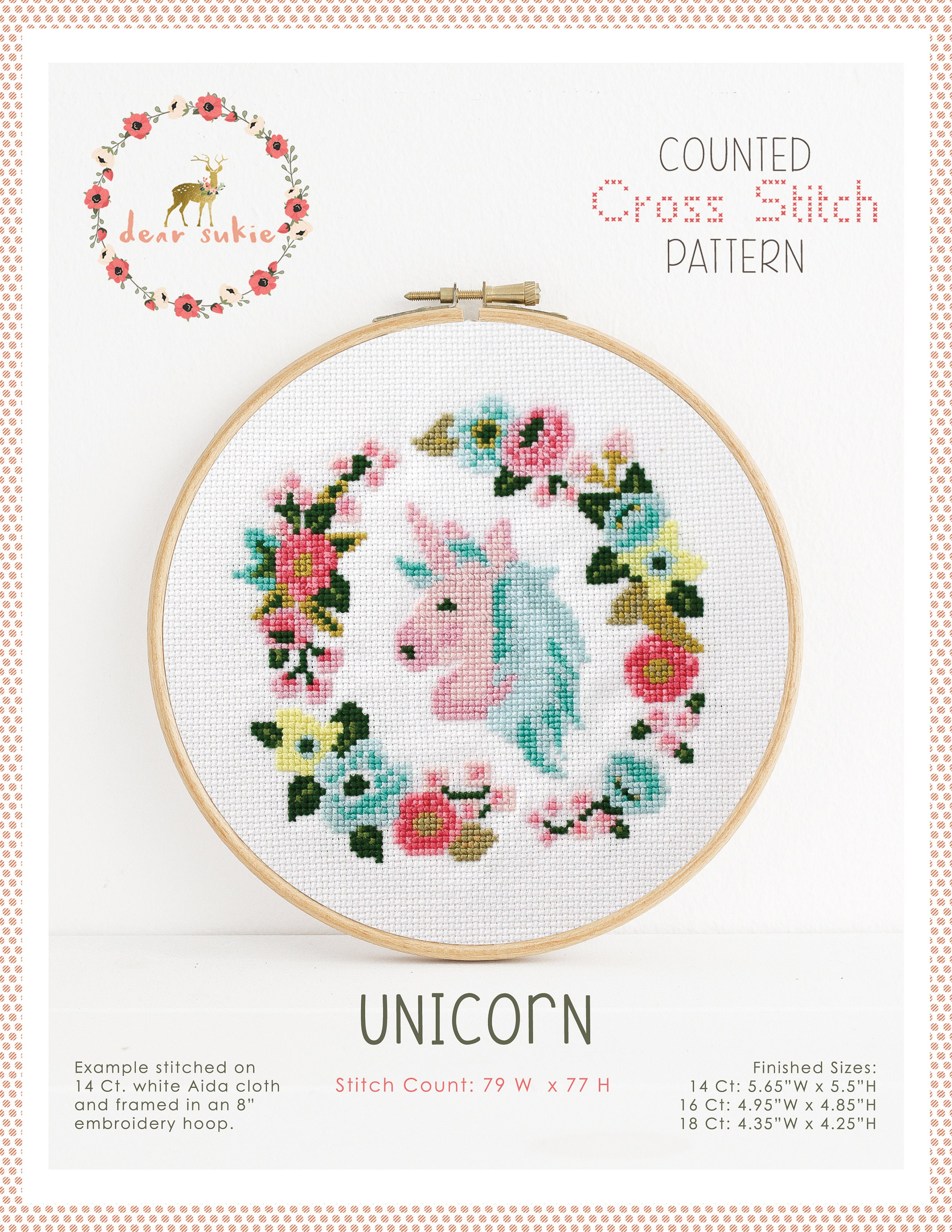 PDF Counted Cross Stitch - Unicorn / cross stitch, diy, embroidery ...