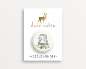 Needle Minder Hedgehog - cute needle minder, cute,  embroidery, cross stitch, needlework, supplies, xstitch, gift, magnet, woodland