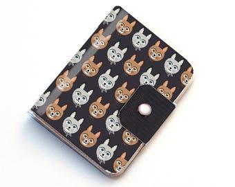 Handmade Vinyl Passport Case - Big Meow1 / traveller, passport, vinyl, gift, womans, wallet, cat wallet, kitten wallet, cat lady gift, cute
