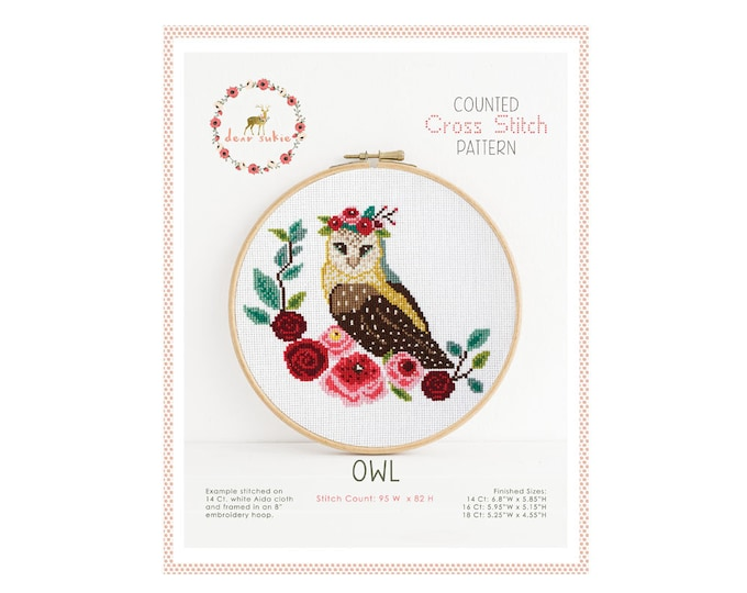 Counted Cross Stitch Pattern - Owl / cross stitch, diy, how-to, embroidery, pattern, gift, owl cross stitch pattern, nursery cross stitch