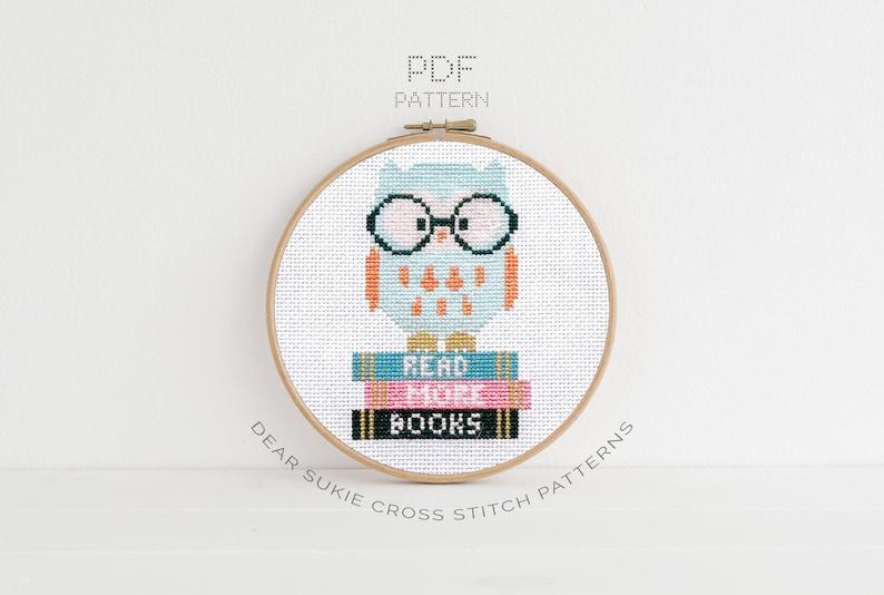 PDF Counted Cross Stitch  Wise Owl / owl cross stitch diy image 1