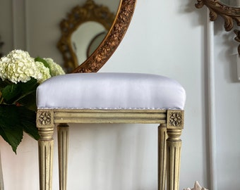 Antique Boudoir Vanity Seat