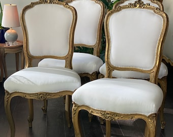 Set f 4 French Antique Ballroom Chairs from Paris