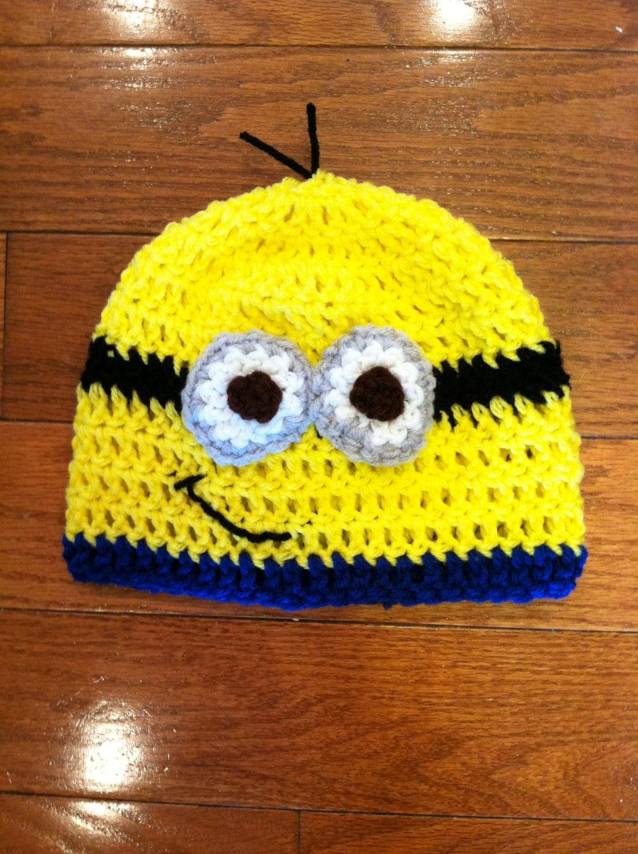 Minion Beanie Minion Hat Minion Costume Minion Sizes Newborn Etsy