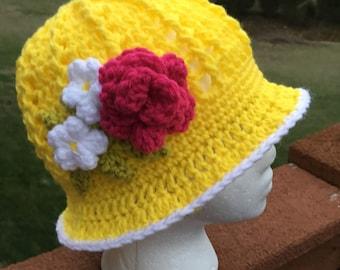 Crochet Panama Hat Crochet Cloche Crochet Sun Hat Easter Hat