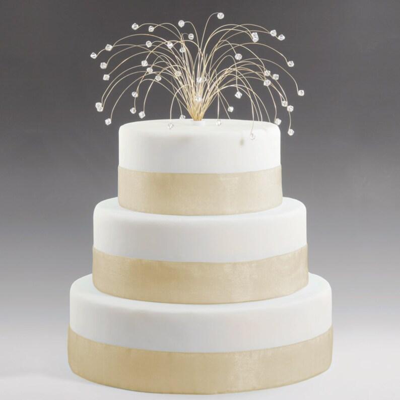 Wedding Cake Topper In Clear Swarovski Crystal Elements On Etsy
