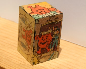 The Adventures of Kool-Aid Man! An Upcycled and Decoupaged Comic Book Block