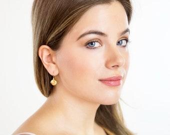 Small Gold Earrings - Dangle Earrings - Gift For Woman - Sweet Jewelry - Lightweight Jewelry - Everyday Jewelry