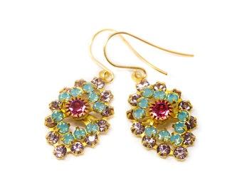 Crystal Dangle Earrings, Gift For Her, Wedding Earrings, Bridesmaid Jewelry