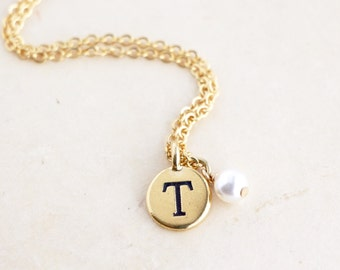 Monogram Necklace - Personalized Gift - Gift For Daughter - Custom Initial Necklace - Monogram Necklace - Personalized Birthday Gift