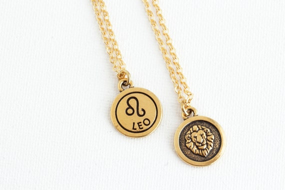 Leo Zodiac Necklace Leo Pendant Personalized Zodiac Etsy