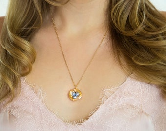 Personalized Gift For Mom - Gold Necklace WIth Pearls - Family Jewelry - Mom of Three Gift - Mothers Day Gift Idea