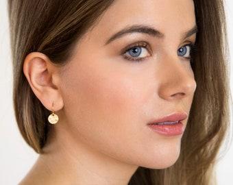 Gift For Her - Small Gold Earrings - Golden Earrings - Gift For Woman - Sweet Jewelry - Dangle Earrings