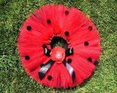 Ladybug Tutu Birthday - Design Your Own Babybug - Custom Sewn Infant Toddler 8 quot Lady Bug Tutu - Newborn to 5T - tutu only