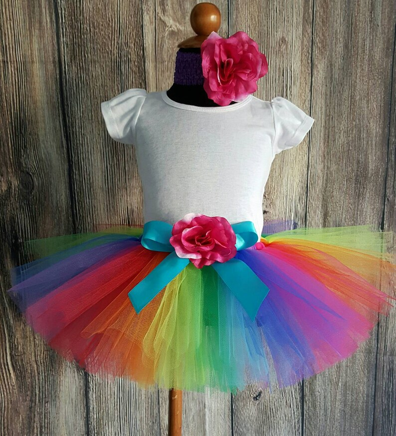 Rainbow Tutu Skirt for Girls Babies Toddlers  NEW Economy image 1