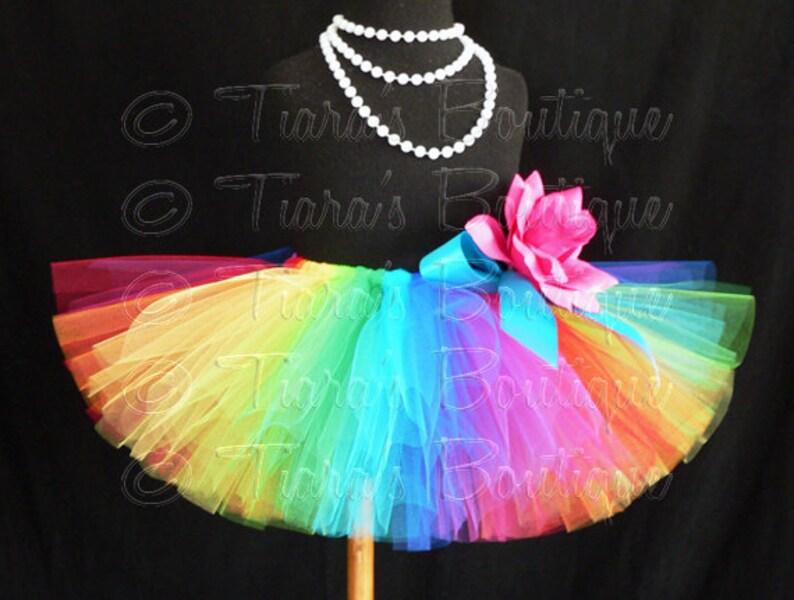 Imagine Newborn Photo Prop Toddlers Tulle Skirt for Girls Custom Sewn Tutu Birthday Tutu Babies Rainbow Tutu Economy Tutu Tweens