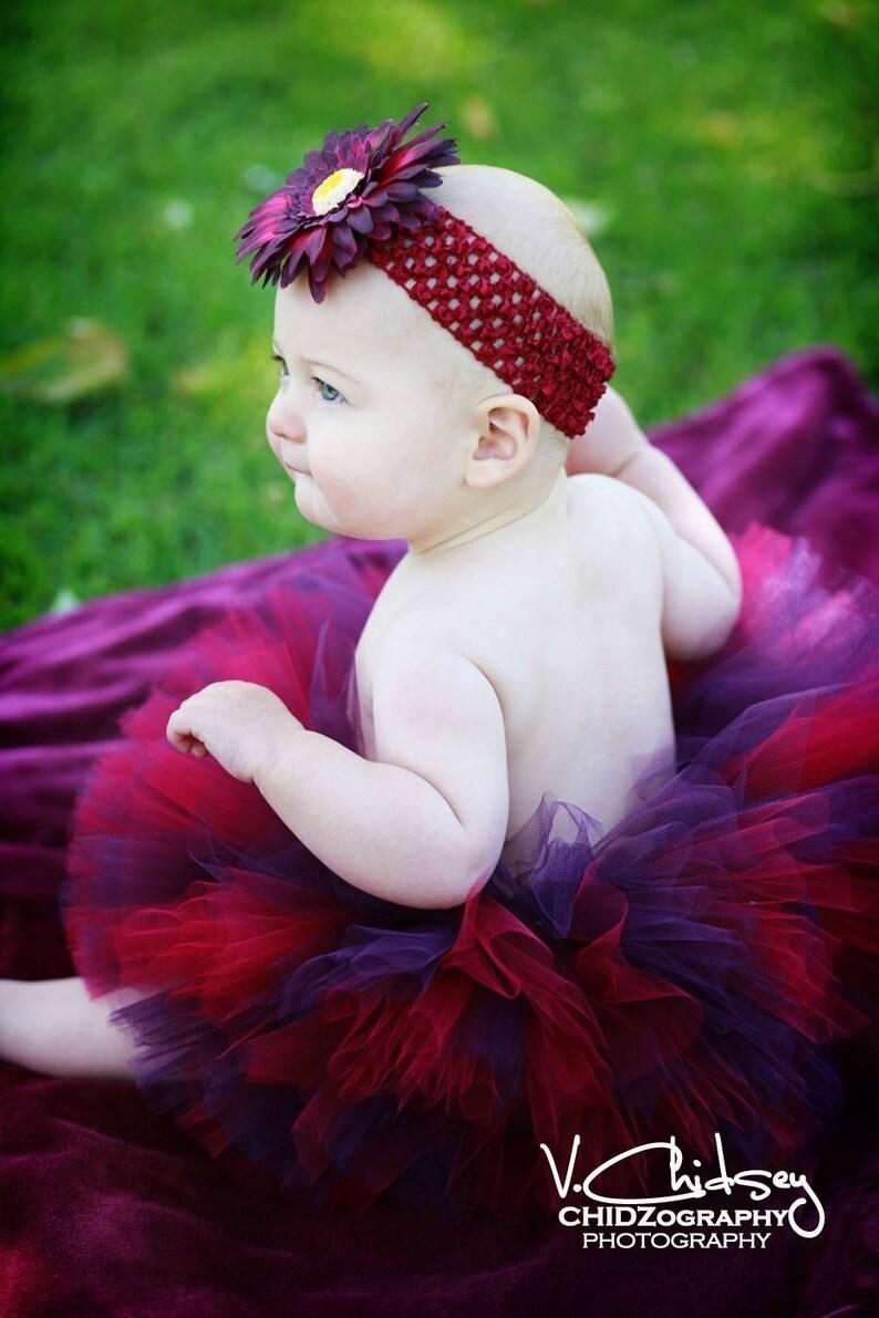 Sweet Cranberry sizes Newborn to 5T Up to 6/'/' length Custom Sewn Tutu