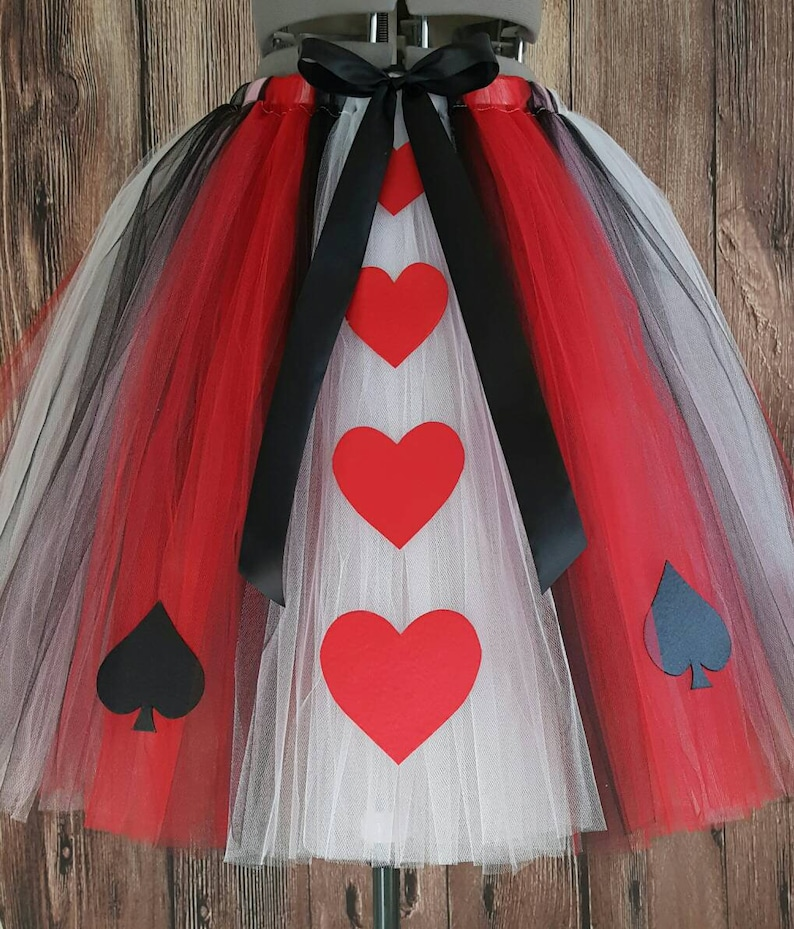 Queen of Hearts Adult or Teen Less Full Tutu  up to image 0