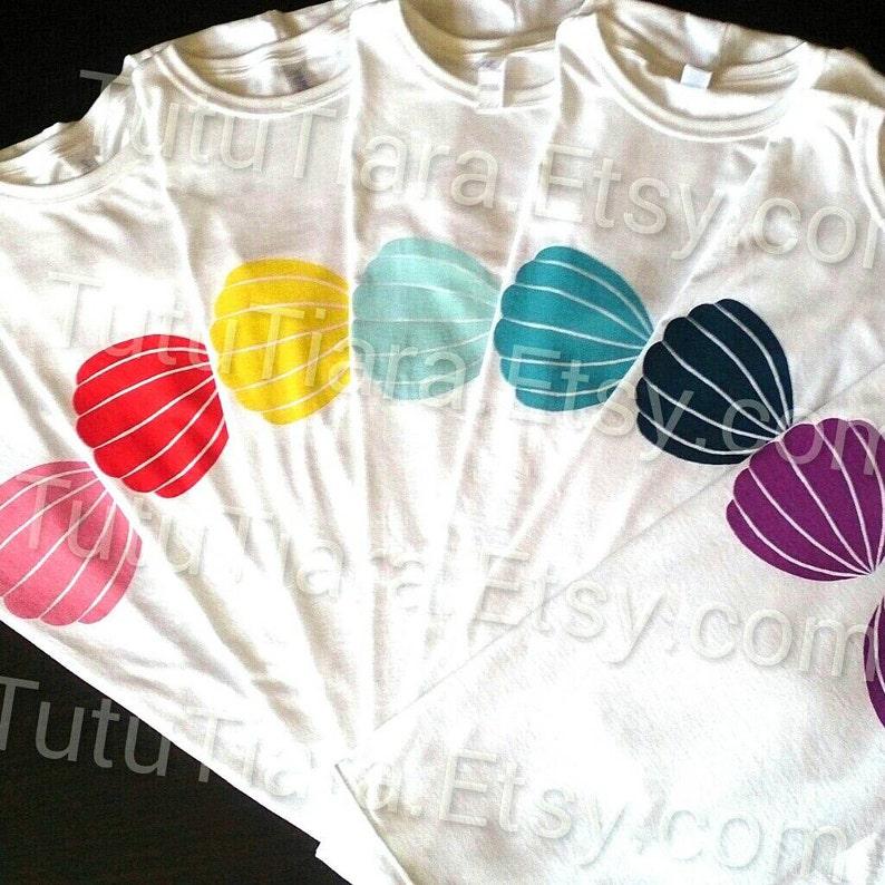 e8a804380 Little Mermaid Shirt Seashell Bra Top Shirt Women's | Etsy