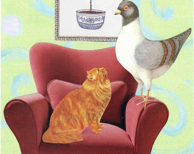 The Cat Bird Seat greeting card