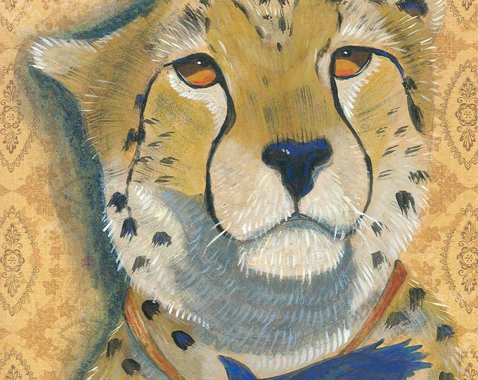 The Talisman cheetah blank greeting card