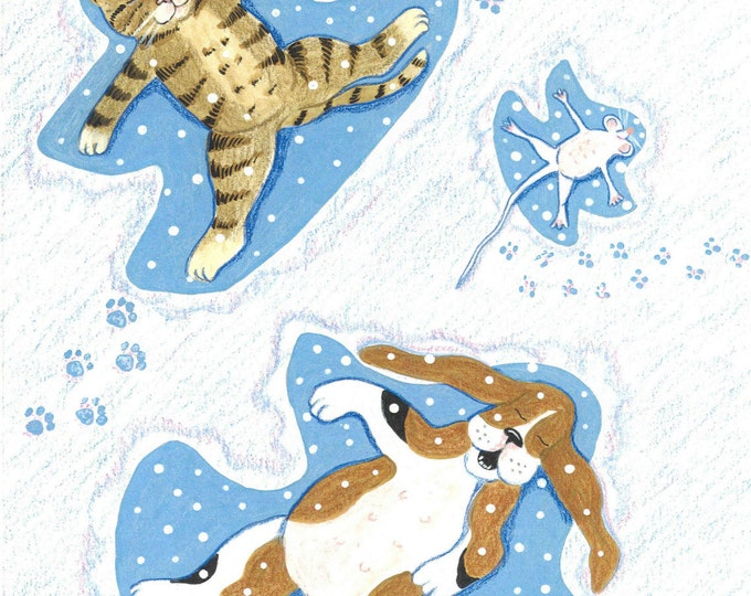 There's snow friends like old friends christmas card
