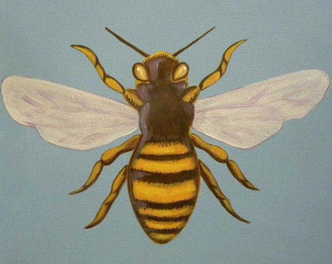 Queen Honey Bee blank greeting card