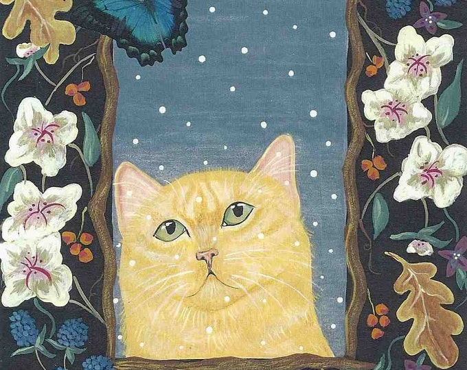 A Cat For All Seasons greeting card