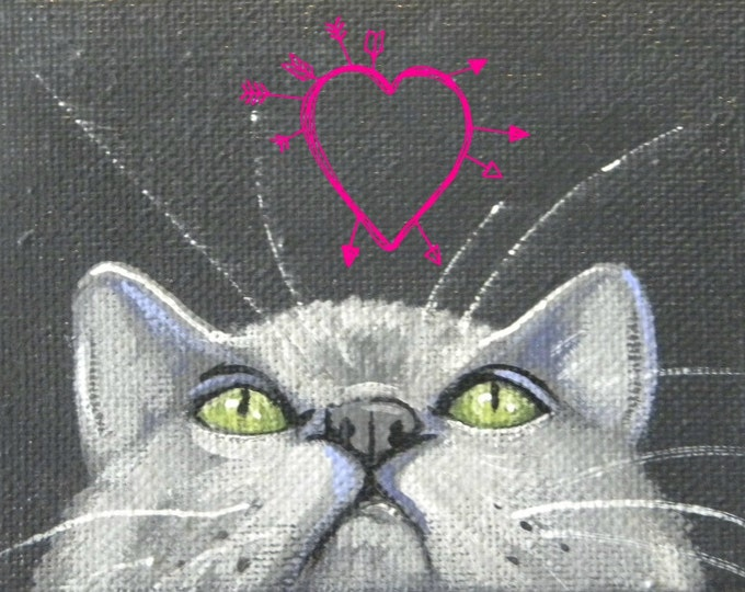 Love On My Mind kitty valentine love card