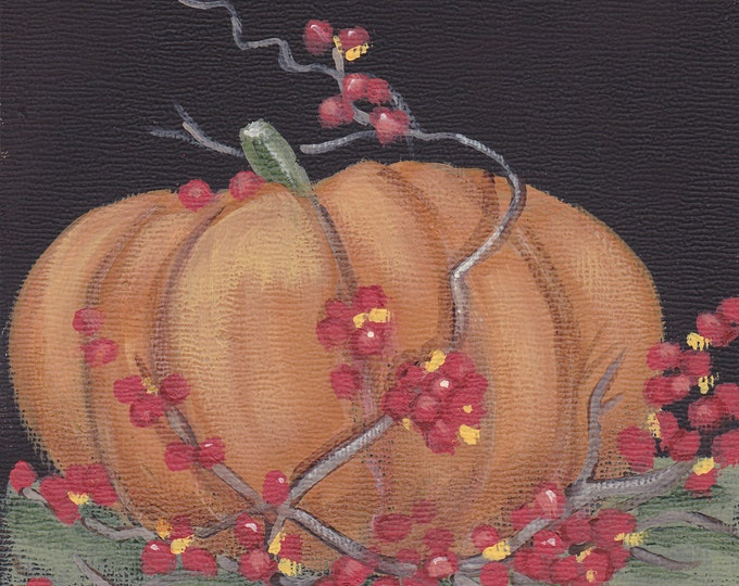 Bittersweet Season autumn blank greeting card