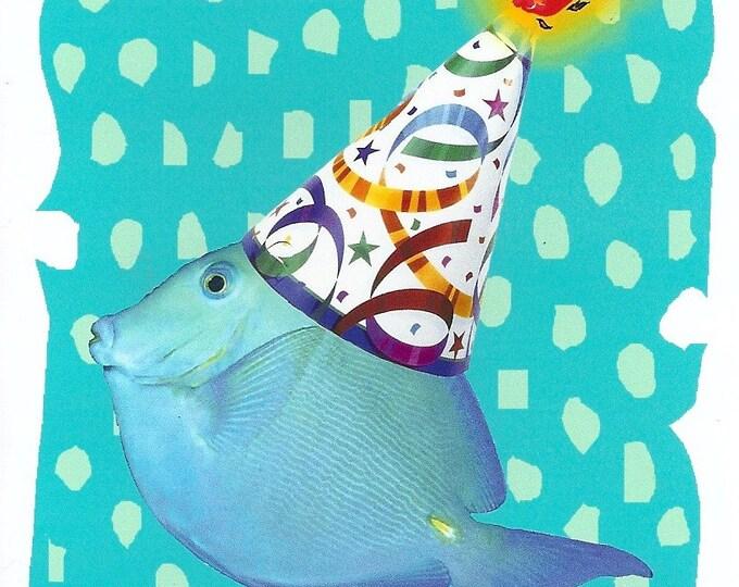 Birthday Wish Fish notecard