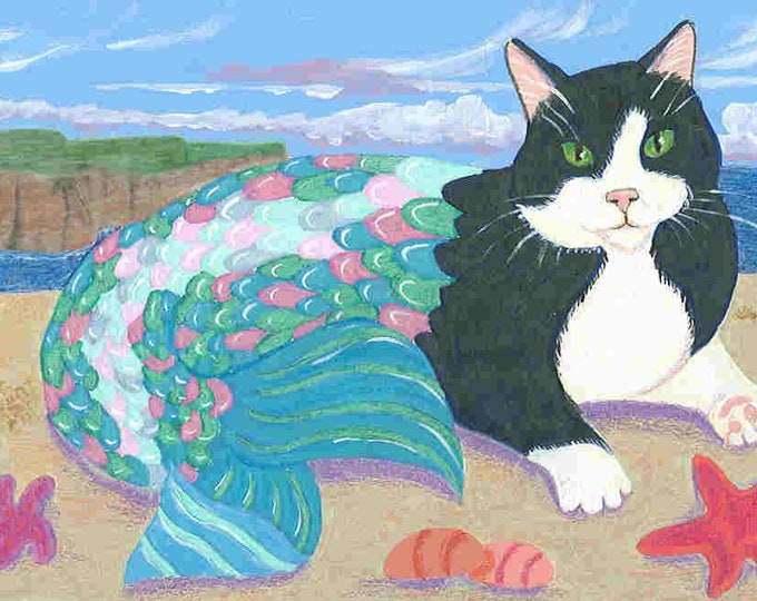 Purrmaids cat mermaids set of 8 cards