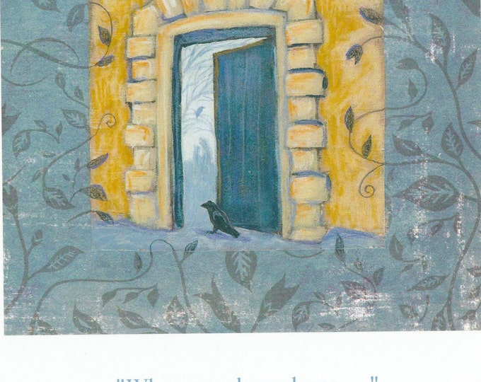 When One Door Closes...blank encouragement card
