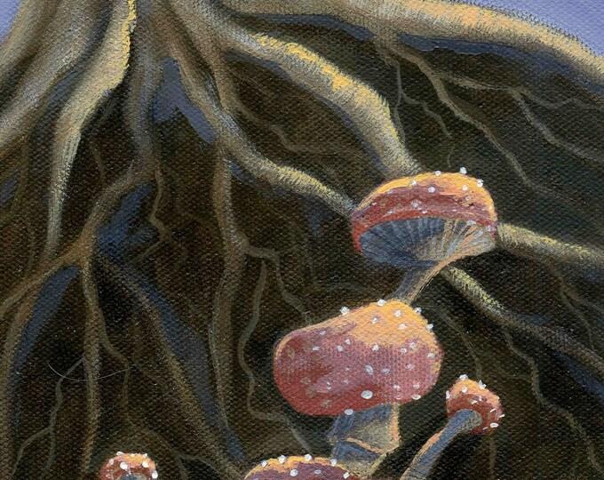 Mushroom blank greeting card