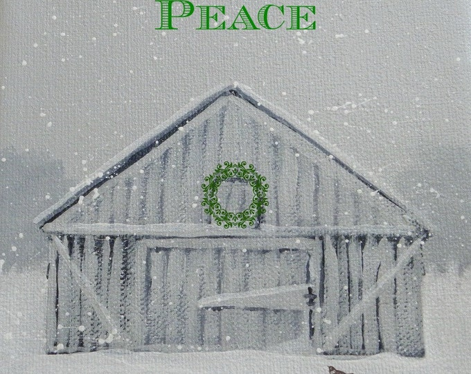 Peace of the season blank Christmas card