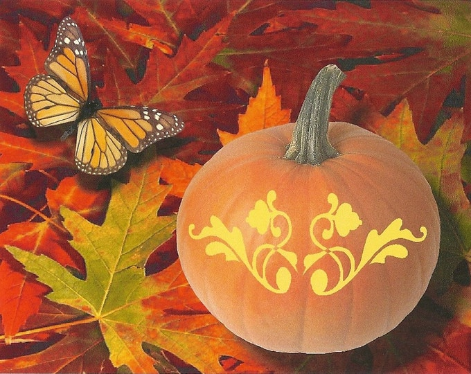 Pumpkin Flourish autumn greeting card
