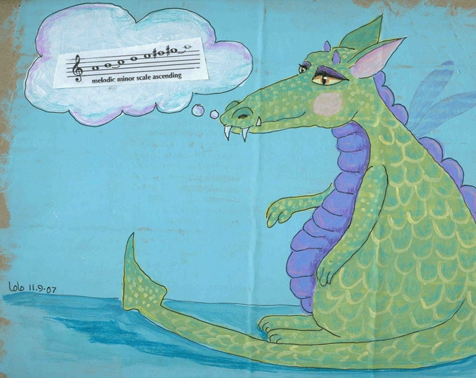 Phyllis the Dragon notecard