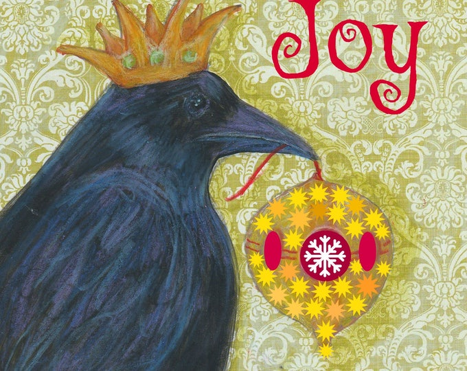 Raven Christmas card Joy