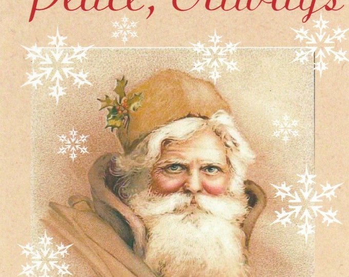 Vintage Santa peace Christmas card